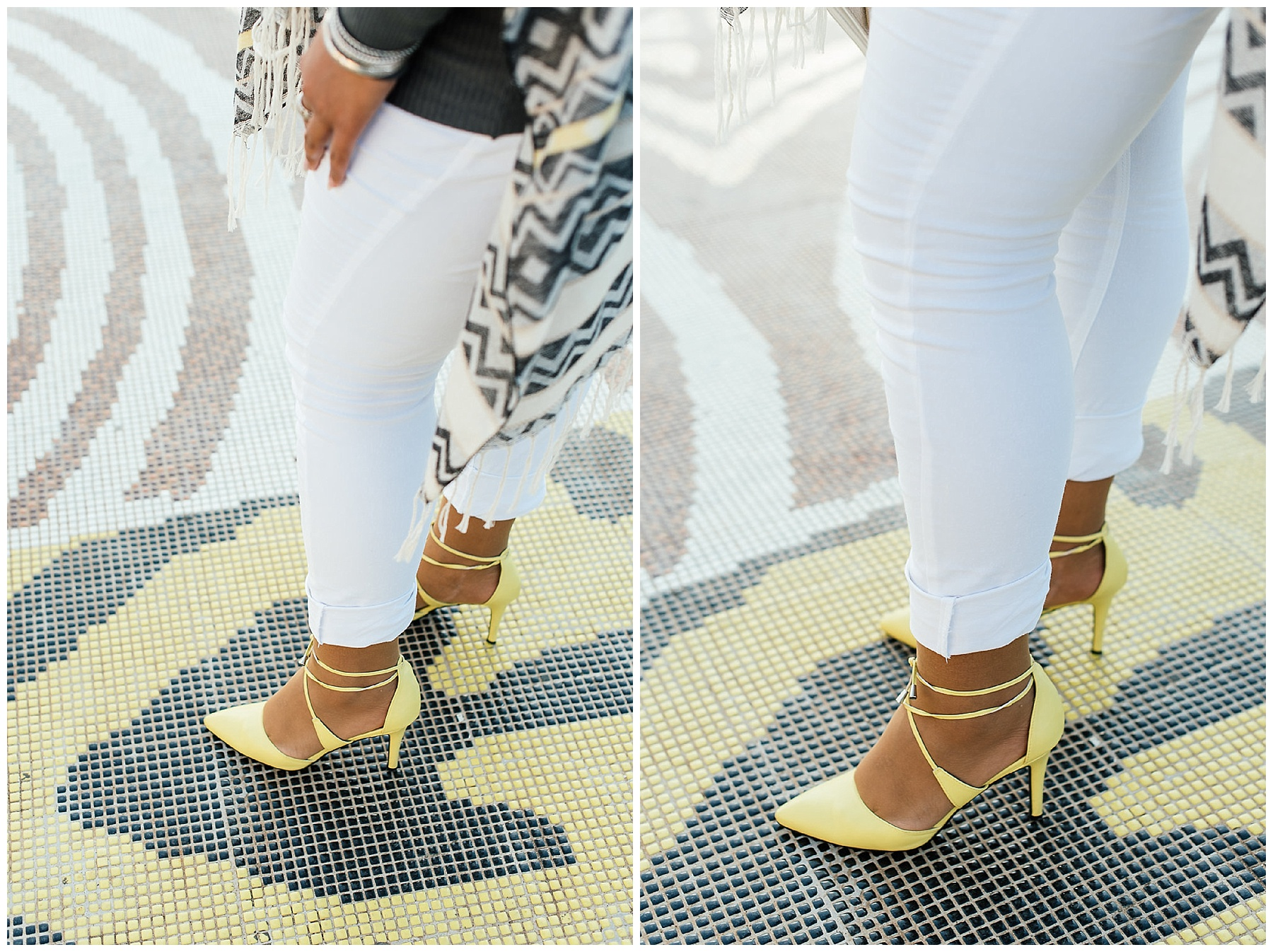 Yellow pointy heel