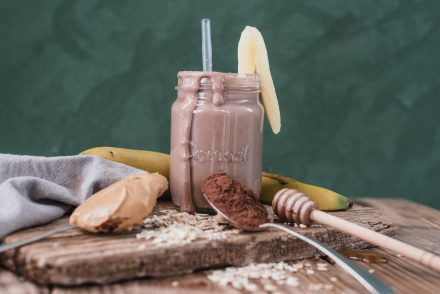 Banana Peanut butter superfood smoothie