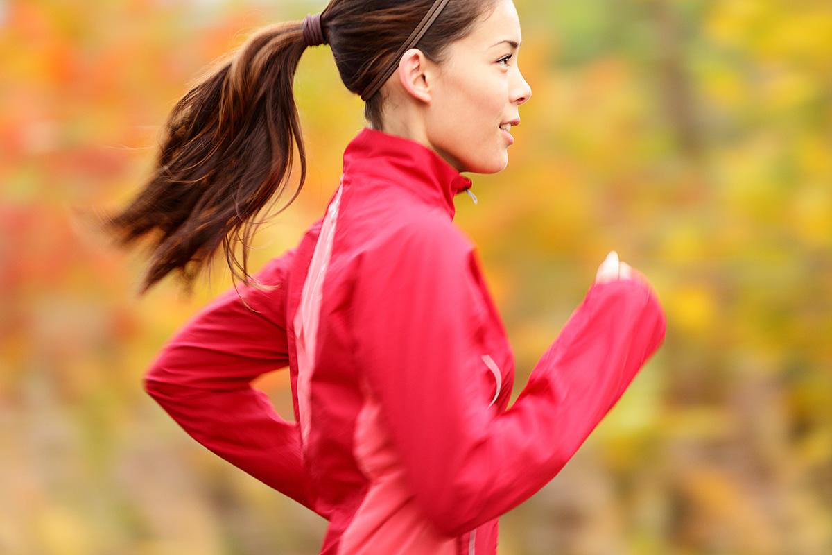 running ponytail
