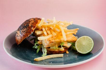 Smart Food • The Thai inspired blushing pink salmon burger