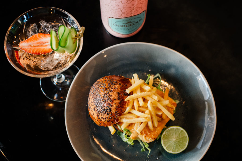 Smart Food • The Thai inspired blushing pink salmon burger
