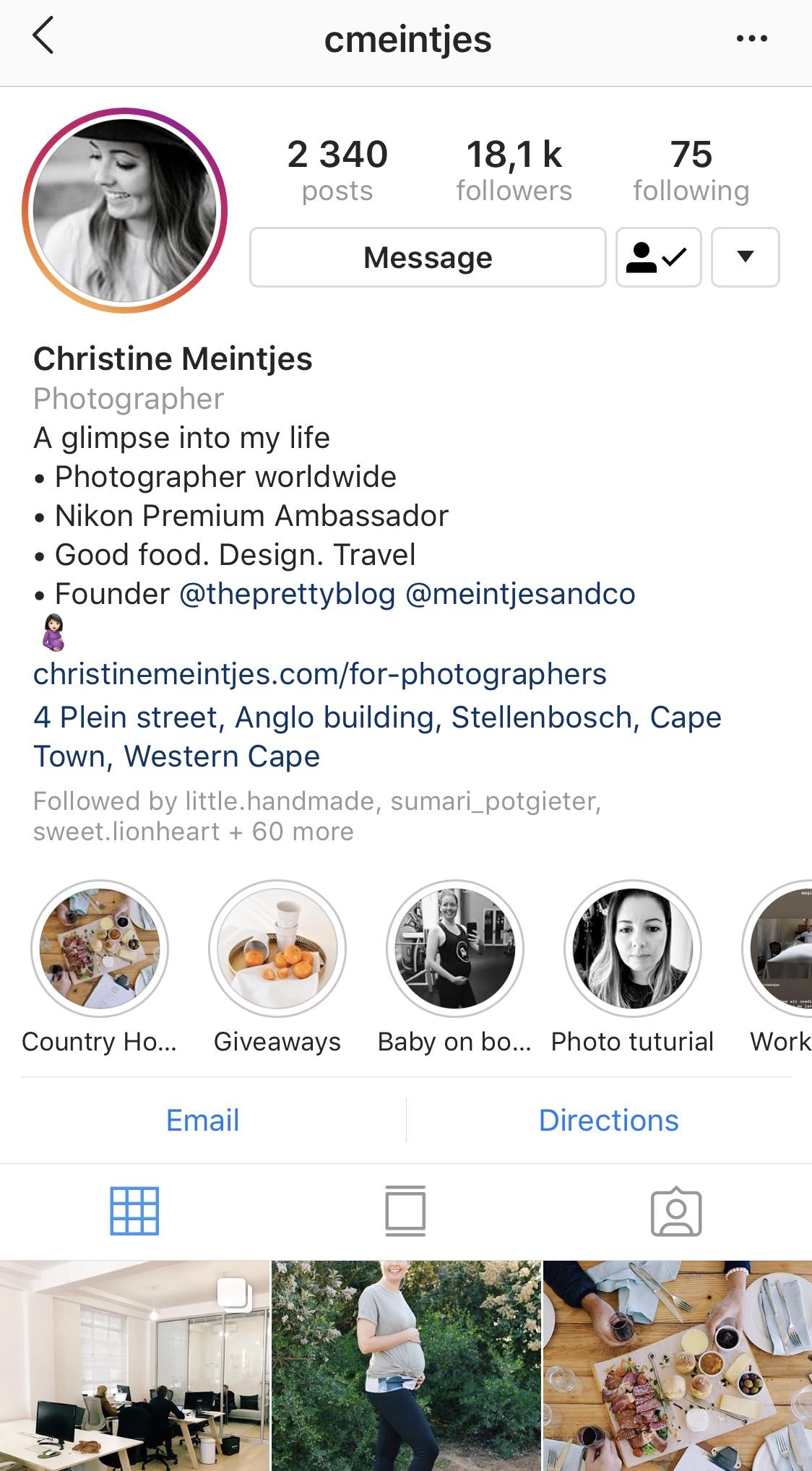 Christine Meintjes Instagram